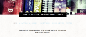 Tutor webpage